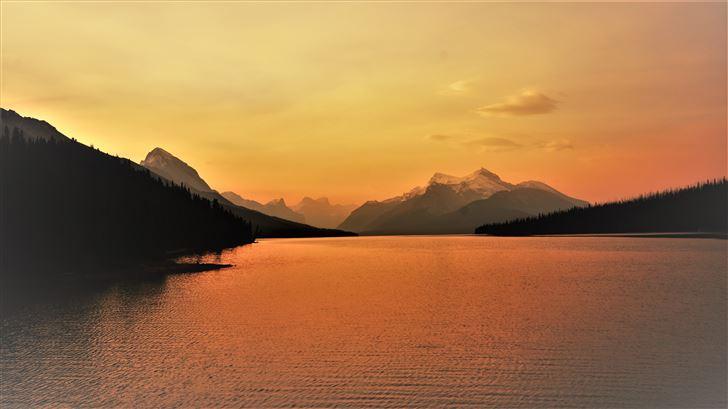 lake sunrise 5k Mac Wallpaper
