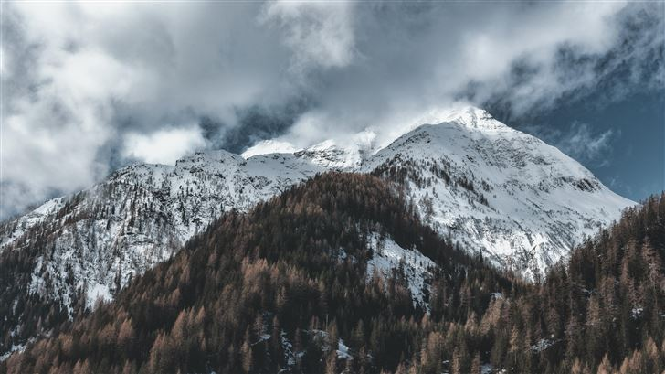 snow capped mountains 5k Mac Wallpaper