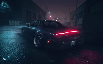 mazda rx7 need for speed rain 4k MacBook Air wallpaper