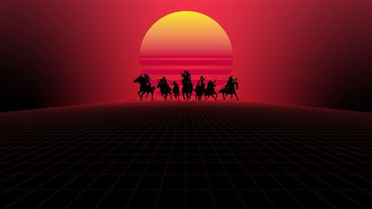 red dead redemption minimal 8k Mac Wallpaper