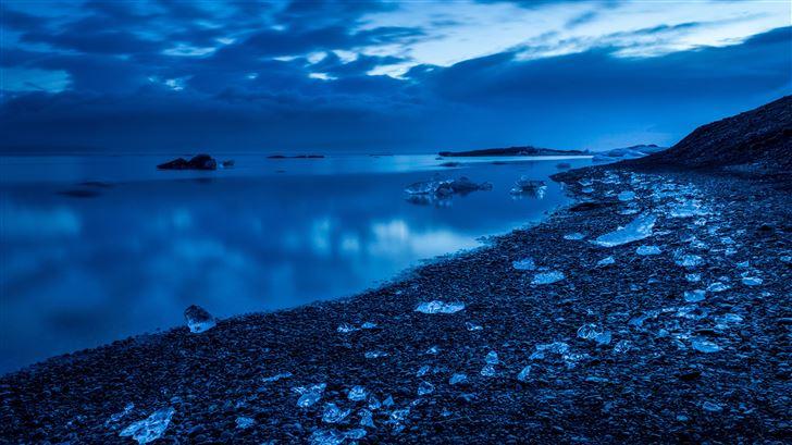 icy land jokulsarlon lake 5k Mac Wallpaper