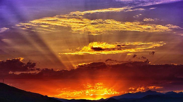 beautiful morning landscape 5k Mac Wallpaper