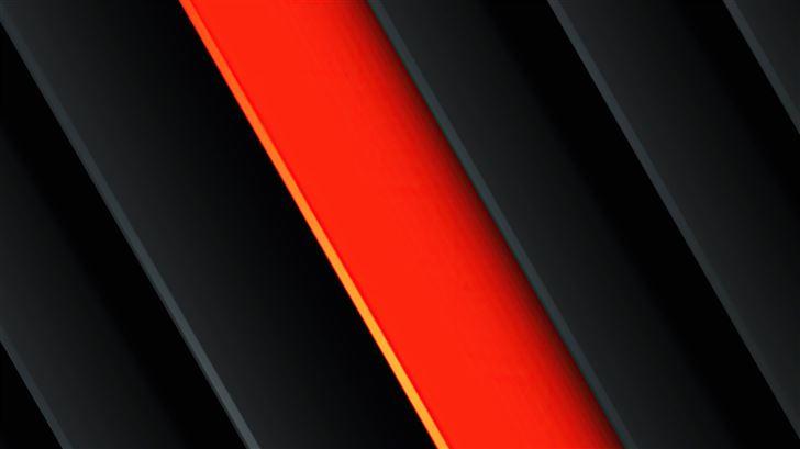 orange red black abstract 5k Mac Wallpaper