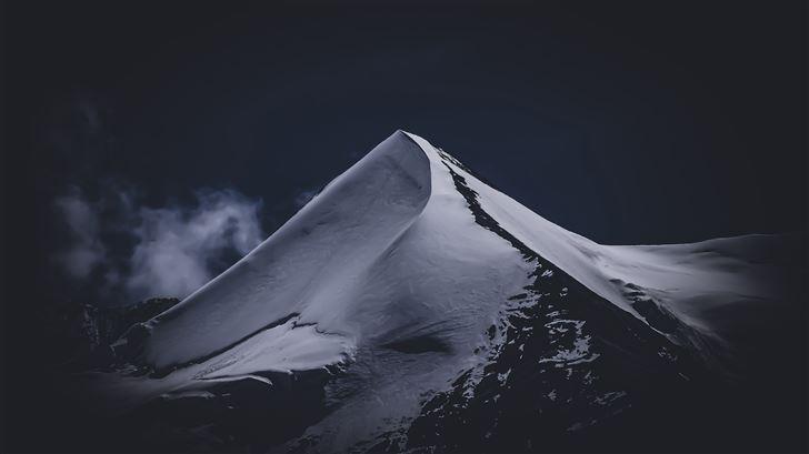 grey mountain range 5k Mac Wallpaper
