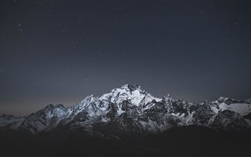 snow caps mountains landscape 5k iMac wallpaper