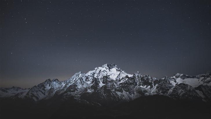 snow caps mountains landscape 5k Mac Wallpaper