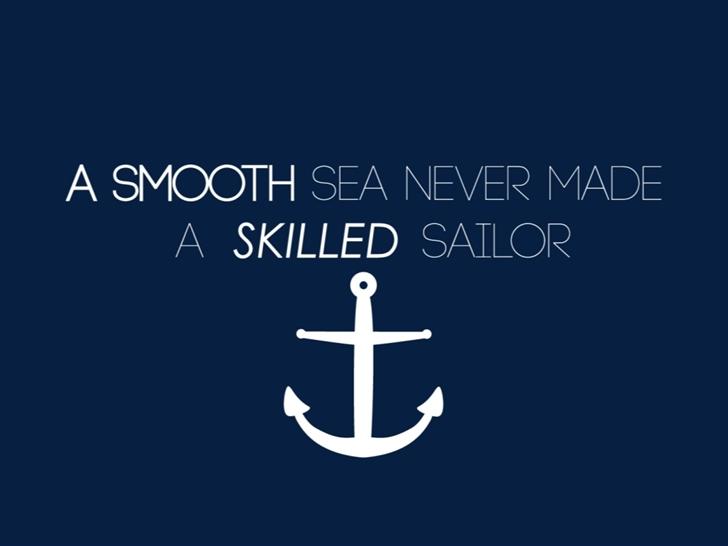 A smooth sea never made a skilled sailor Mac Wallpaper