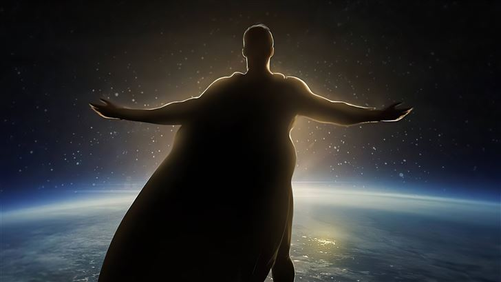 superman outside world 5k Mac Wallpaper