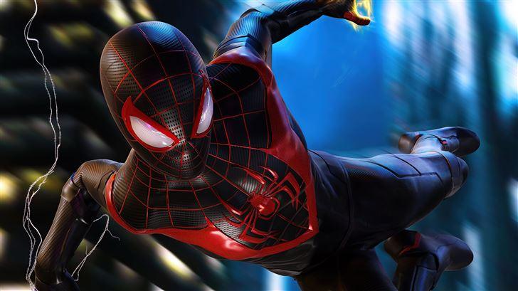 miles morales spiderman ps5 Mac Wallpaper