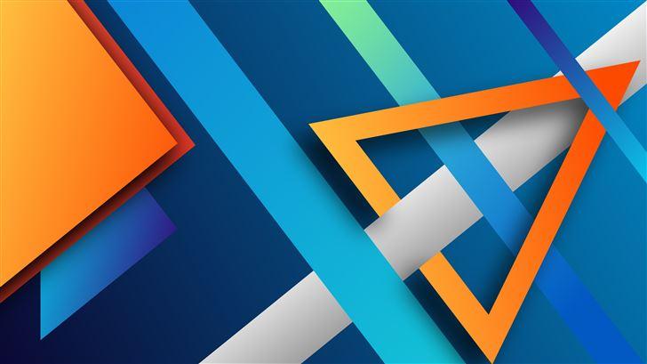 triangles world 8k Mac Wallpaper