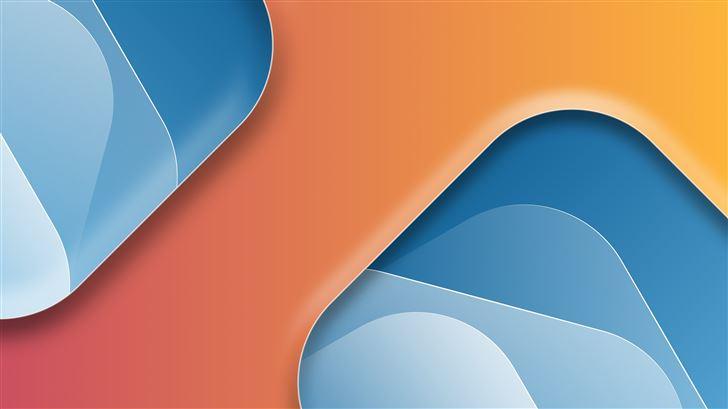 two glasses orange 8k Mac Wallpaper