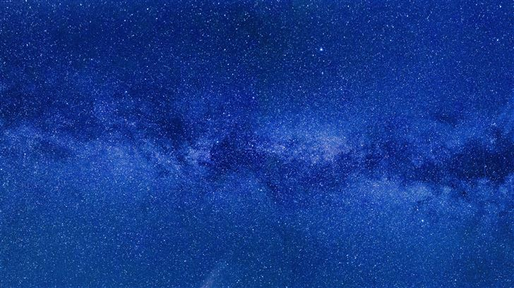blue milky way 8k Mac Wallpaper
