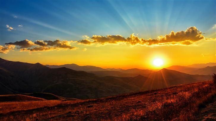sunset dawn landscape 5k Mac Wallpaper