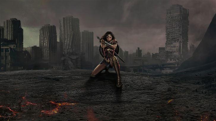 wonder woman the warrior of justice league 5k Mac Wallpaper