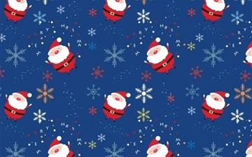 Santa claus pattern Mac wallpaper