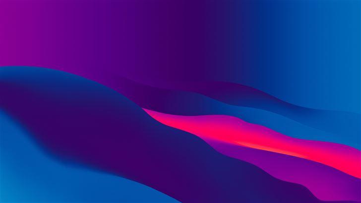 blue lint abstract 8k Mac Wallpaper