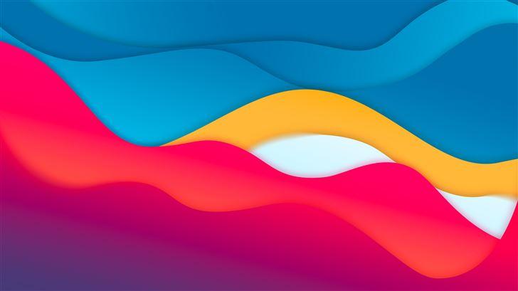 material style art 8k Mac Wallpaper