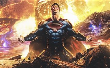 superman and darkseid zack snyders justice league All Mac wallpaper