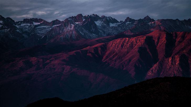 red mountain range highlands 8k Mac Wallpaper