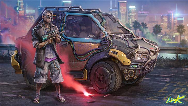voodoo boy cyberpunk 2077 5k Mac Wallpaper