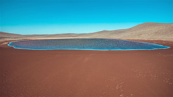 iceland sand water body beach 5k Mac Wallpaper
