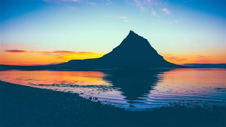 dawn landscape sky sea 5k Mac Wallpaper