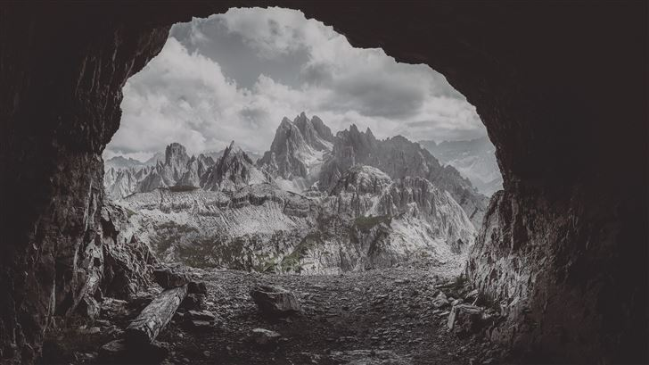 mountain cave 5k Mac Wallpaper