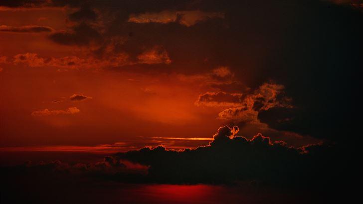 sunset sky dark 5k Mac Wallpaper