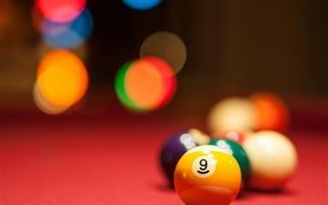 Balls billiards Mac wallpaper