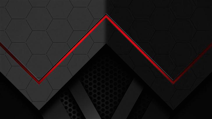 abstract dark red line 5k Mac Wallpaper