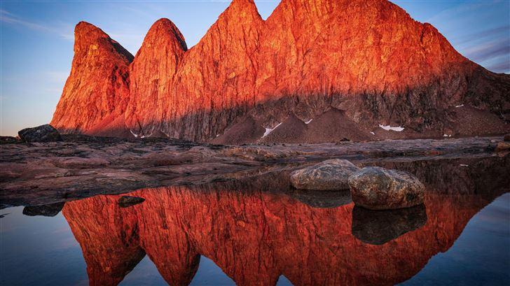 bjorne islands sunrise greenland 5k Mac Wallpaper