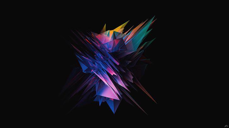 glass abstract sharp shapes 5k Mac Wallpaper