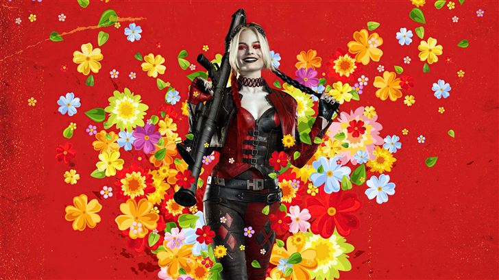 harley quinn the suicide squad 8k Mac Wallpaper
