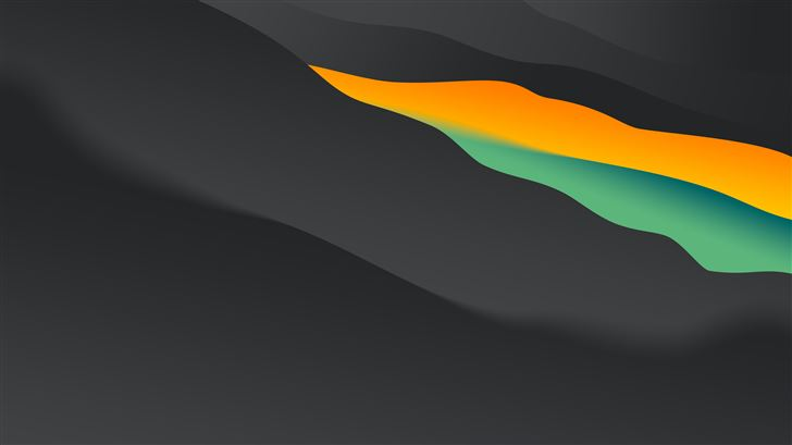 dark gets colorful 8k Mac Wallpaper