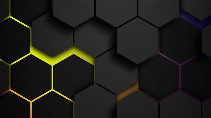 grids colors polygon 5k Mac Wallpaper