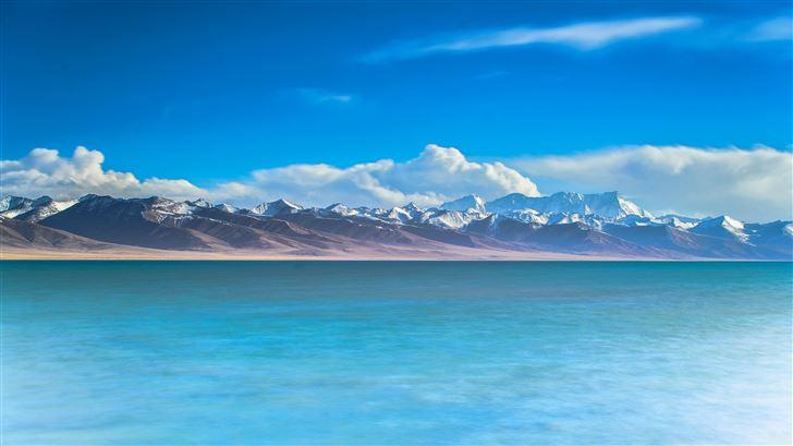 ocean view mountains 5k Mac Wallpaper