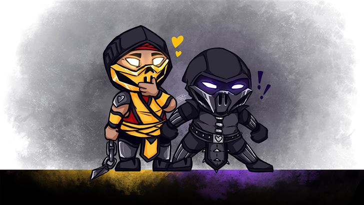 mortal kombat chibi Mac Wallpaper