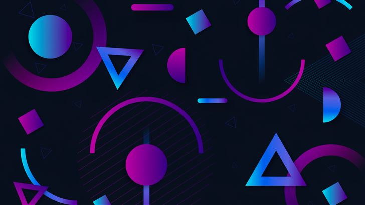 circle triangle shapes abstract 5k Mac Wallpaper