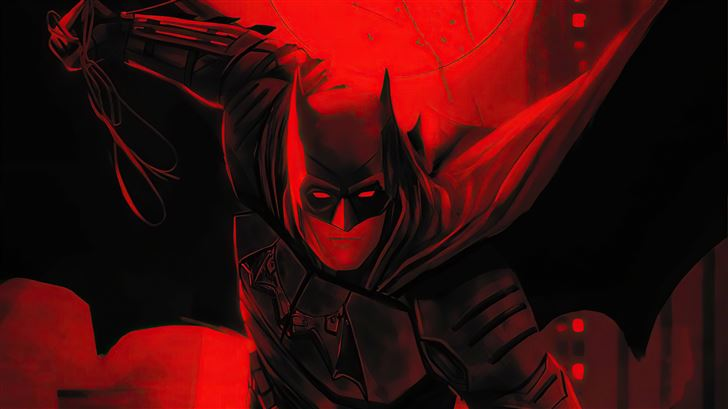 the batman red flame 5k Mac Wallpaper