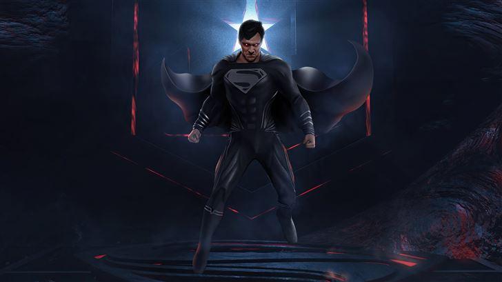 powerful superman jl 5k Mac Wallpaper