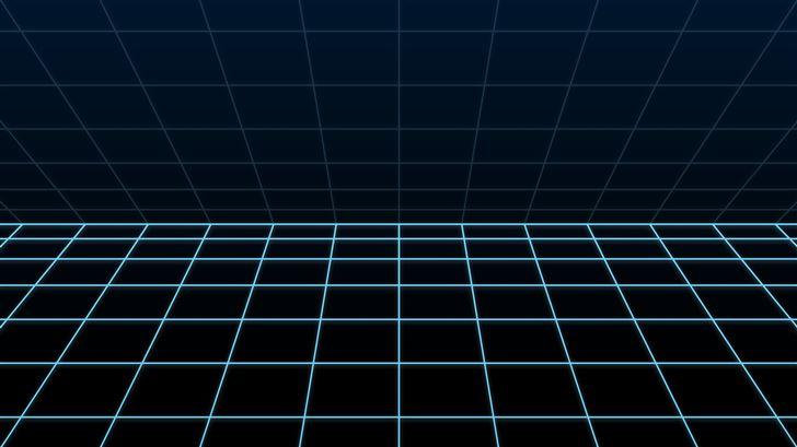blue grid 5k Mac Wallpaper