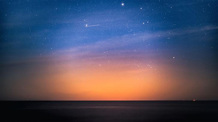 stars above the dark baltic sea 5k Mac Wallpaper