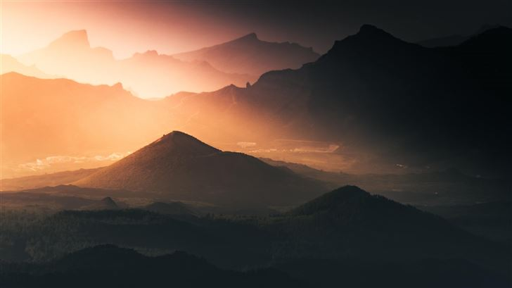 dreamy mountains morning 5k Mac Wallpaper