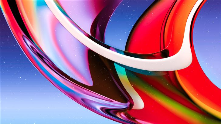 gradient glass abstract 8k Mac Wallpaper