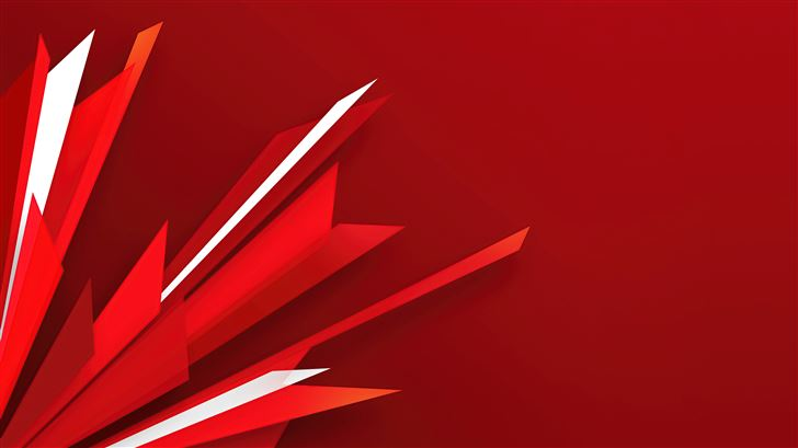 abstract red shapes 5k Mac Wallpaper