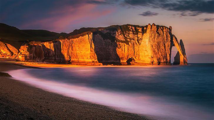 etretat cliff 8k Mac Wallpaper