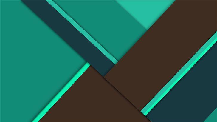 green brown material design 8k Mac Wallpaper
