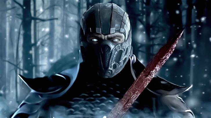 sub zero in mortal kombat movie 5k Mac Wallpaper