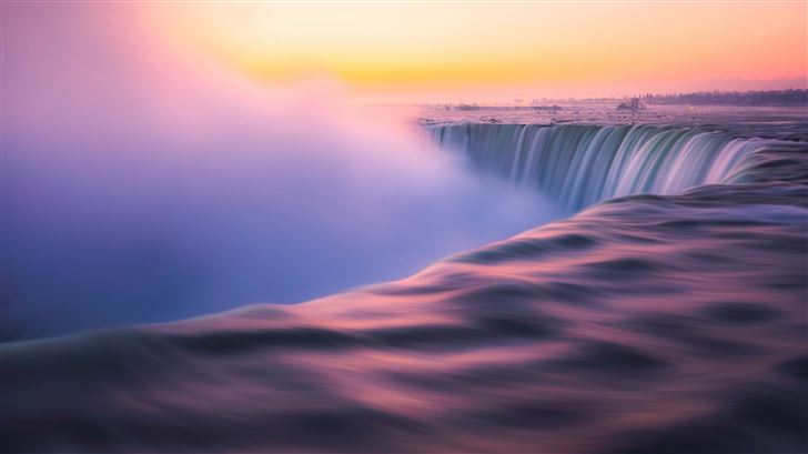 sunrise at niagra falls 5k Mac Wallpaper