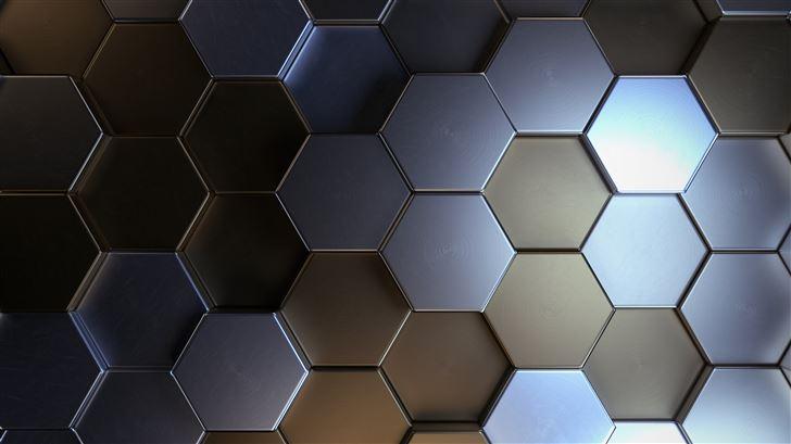 metal polygon shapes 5k Mac Wallpaper